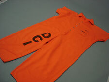 Inmate Jail Prisoner Convict Costume Prison Orange Jumpsuit 6XL