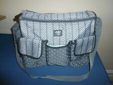 Used Carters Child Of Mine Grey & White Diaper Bag.Good Used Cond'T