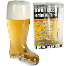 Large Glass Beer Boot XXL Cider Pint of Lager Drinking Games Gift Fun 800ml