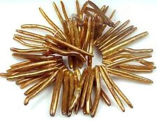 "40mm Natural Golden Sponge CORAL Fancy Branch Beads 7"""