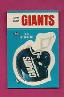 1987 NY GIANTS NFL FOOTBALL STICKERS  NRMT-MT CARD (INV# A4978)