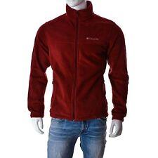 COLUMBIA Mens Jumper fleece Top dark red size M
