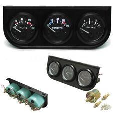 3er Zusatzinstrument Öldruckmesser Öldruckanzeiger Thermograph LED Multifunktion