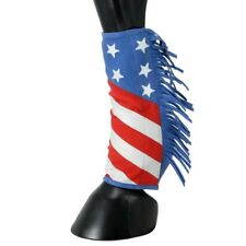 Tough-1 Sport Boot Covers with Fringe - Large(Horse) Stars/Stripes