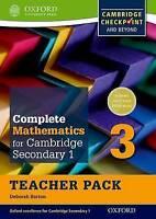 Complete Mathematics for Cambridge Lower Secondary Teacher Pack 3. For Cambridge