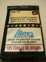 1990-91 7th Inning Stretch QMJHL Hockey - 3 Packs Of Cards - 10 Cards per Pack