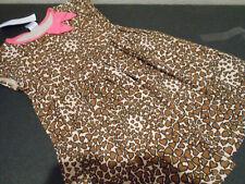 Gymboree Brown Leopard  Animal Print Dress 4T New