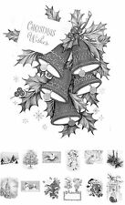 """Adult Grayscale Coloring Book (24 cards 4.5""""x6.5"""") Christmas Tree Santa FLONZ506"""