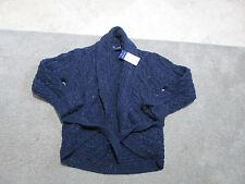 NEW Ralph Lauren Polo Cardigan Sweater Girls Medium Kids Youth Knit Blue Wool