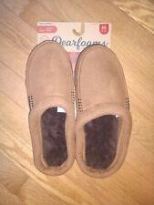 Dearfoams Men's Memory Foam Slippers Chestnut Brown Style   Medium (9-10)