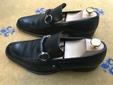 Gucci Mens Shoes Black Leather Horsebit Loafers UK 8.5 US 9.5 42.5