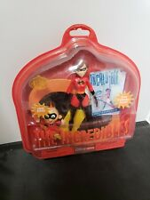 Very Rare! Nisb 2004 Retired! The Incredibles Helen And Jack (Disney Store Ex.)