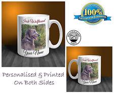 Irish Wolfhound Personalised Ceramic Mug: Perfect Gift. (D297)
