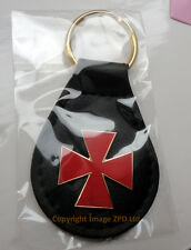 ZP370 Knights Templar Red Cross Maltese Keyring