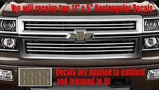 Tree Camo Deer Emblem OVERLAY Decals Stickers for Chevy Bowtie Emblem-2 - U CUT
