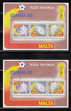 103597/ Malta 1982 - Bl. 7 - Fußballweltmeisterschaft - **/o - M€ 8,00