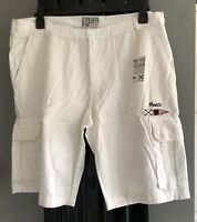 MENS CARGO DESIGN WHITE SHORTS SIZE S M L XL