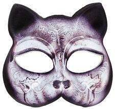 Katzenmaske aus Stoff NEU - Karneval Fasching Maske Gesicht