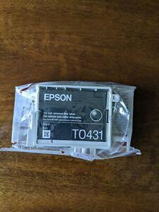Genuine Original Unused & Vacuum Sealed Epson T0431 Ink Cartridge Set -  Black