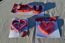 Valentine's Day Assorted Cookie Cutter Lot