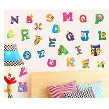 Stylish Alphabet&Animals Vinyl Mural Wall Stickers Baby Kids Room Decals Decor Q