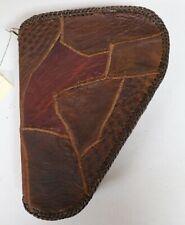 Handcrafted Genuine Ostrich Skin Brown Leather Large Gun Case Rug