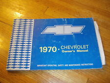 1970 GM Factory Original Owners Manual Impala, bel air, biscayne
