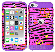 For Apple iPod Touch iTouch 5 | 6 - KoolKase Hybrid Cover Case Peace Zebra Pink