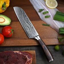 7'' Japonais Professionnel Couteau de Cuisine Nakiri pour Viande Légumes Fruits