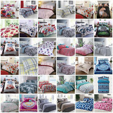 Duvet Cover with Pillow Case Quilt Cover Bedding Set Single Double & King Size