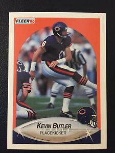 Kevin Butler 1990 Fleer Corrected Card #289 (Placekicker in Front & Back)