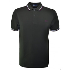 Fred Perry Twin Tipped Polo Shirt/Hunting Green - Medium