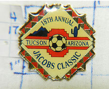ARIZONA, TUCSON JACOBS CLASSIC SOCCER 18TH ANNUAL 1999 METAL HAT LAPEL PIN