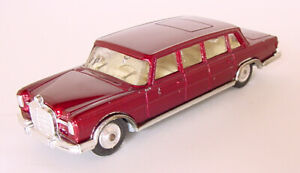 1960s CORGI MERCEDES BENZ 600 PULLMAN LIMO RED w MOVING WIPERS! WORKS! DIECAST