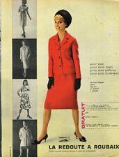 I - Publicité Advertising 1963 Vetement Tailleur La Redoute à Roubaix