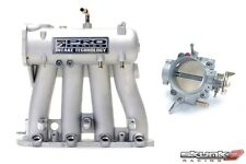 SKUNK2 Intake Manifold Pro Silver+Throttle Body Alpha 70mm 88-00 Civic D15/D16