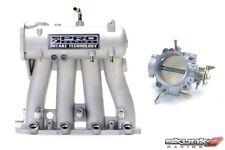 SKUNK2 Intake Manifold Pro Silver+Throttle Body Alpha 70mm 88-00 Civic D15/D16