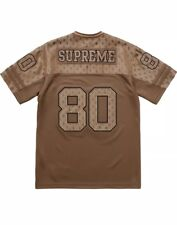 Supreme Brown Monogram Money Size Large Football Jersey Men IN HAND New L SS18