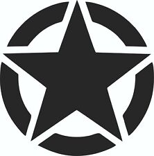 Jeep US American Army Star - vinyl sticker 150mm x 150 mm black gloss vinyl