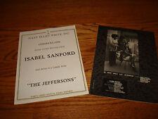 THE JEFFERSONS 2 Emmy ads Isabel Sanford, Sherman Hemsley, Roxie Roker, Franklin