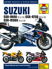 HAYNES 3986 MOTORBIKE REPAIR MANUAL SUZUKI GSX-R600 (01 - 03) GSX-R750 (00 - 03)