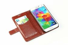 Luxury Leather Vintage / Retro Style Wallet case For Samsung Galaxy S5 SV i9600