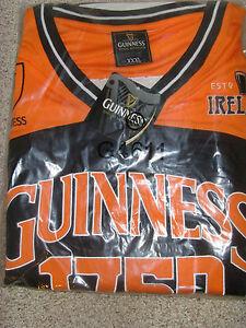 Guinness Performance Black and Orange  Basketball Top Shirt Jersey