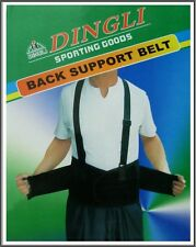 Adjustable Lumber Support Belt Pull Straps Weight Lifting Brace Lower Back XXL