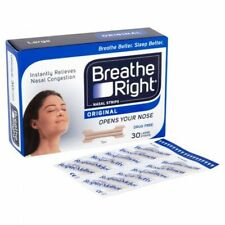 Breathe Right Nasal Strips, Tan, Relieves Nasal Congestion, Large - 30 Strips
