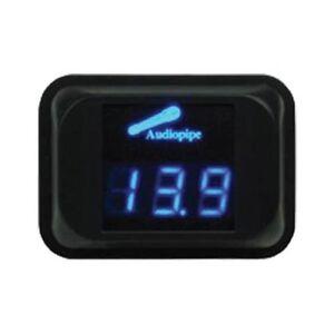 Audiopipe NLD-100 Digital Volt Meter Blue LED Car Audio 11.1 - 15.9V