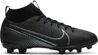 Nike Youth Mercurial Superfly 7 Academy Firm Ground Soccer, Black, Size 4.0 hLU7