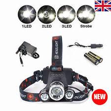 12000LM T6 3 CREE XM-L LED Headlamp Headlight Head Torch Bike Camping Hiking Hot