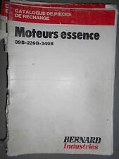 BERNARD moteur 39B 239B 249B : Catalogue pièces 1978