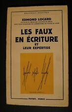 Locard Edmond  Les faux en écriture Ed. Payot EO 1959 TBE